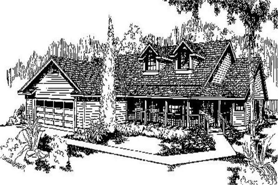 3-Bedroom, 1979 Sq Ft Country Home Plan - 145-1210 - Main Exterior
