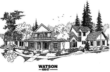 7-Bedroom, 6403 Sq Ft In-Law Suite Home Plan - 145-1211 - Main Exterior