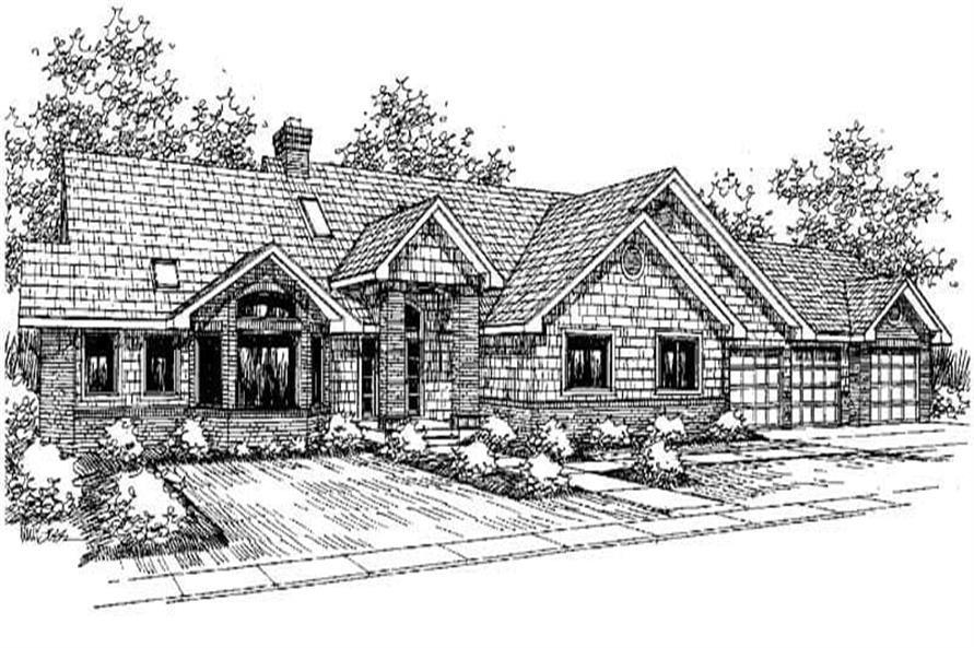 Ranch Home Plan - 3 Bedrms, 3 Baths - 3488 Sq Ft - #145-1213 on small house plans with 3 bedrooms, garage apartment plans with 3 bedrooms, ranch home plans with 4 bedrooms,