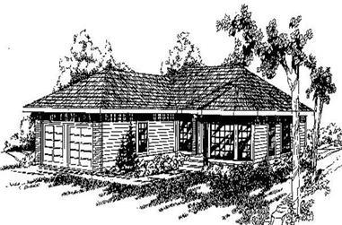 3-Bedroom, 1879 Sq Ft Ranch Home Plan - 145-1216 - Main Exterior