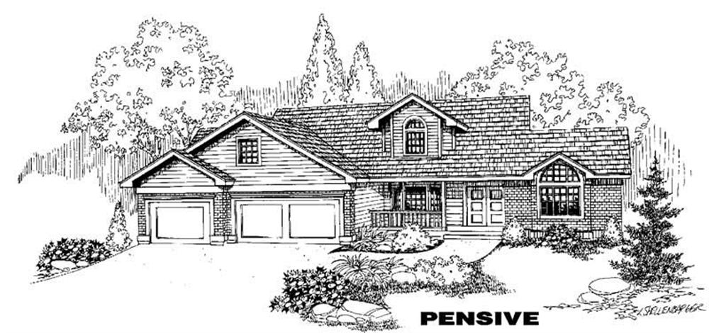 Traditional home (ThePlanCollection: Plan #145-1217)