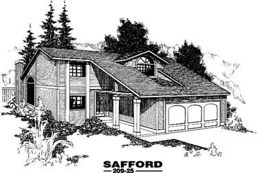 2-Bedroom, 1646 Sq Ft Contemporary Home Plan - 145-1226 - Main Exterior