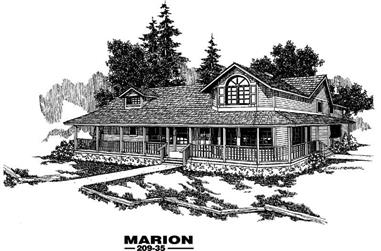 3-Bedroom, 2406 Sq Ft Country Home Plan - 145-1231 - Main Exterior