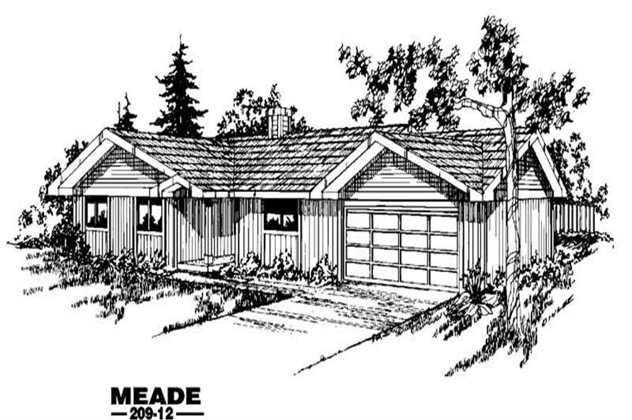 3-Bedroom, 1255 Sq Ft Country Home Plan - 145-1236 - Main Exterior