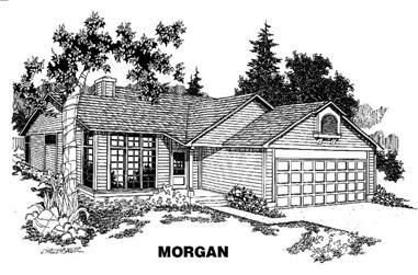 3-Bedroom, 1586 Sq Ft Home Plan - 145-1238 - Main Exterior