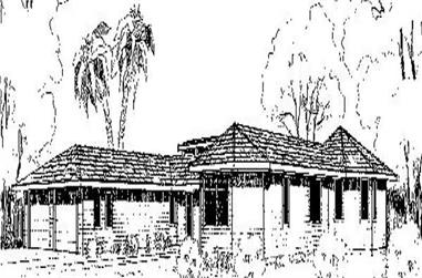 3-Bedroom, 1644 Sq Ft Ranch House Plan - 145-1239 - Front Exterior