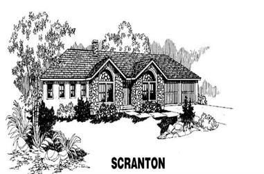 3-Bedroom, 2283 Sq Ft Ranch Home Plan - 145-1242 - Main Exterior