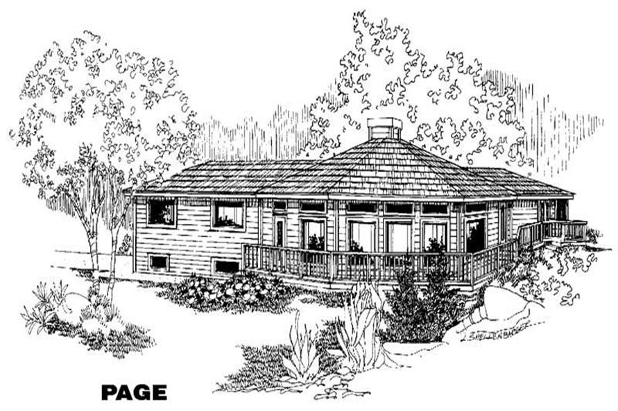 3-Bedroom, 2415 Sq Ft Home Plan - 145-1244 - Main Exterior