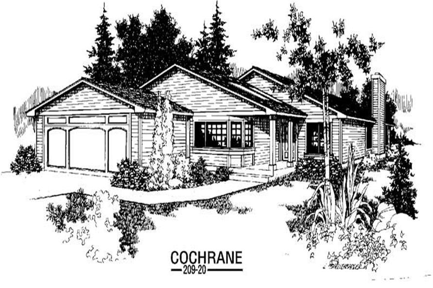 3-Bedroom, 1368 Sq Ft Ranch Home Plan - 145-1245 - Main Exterior
