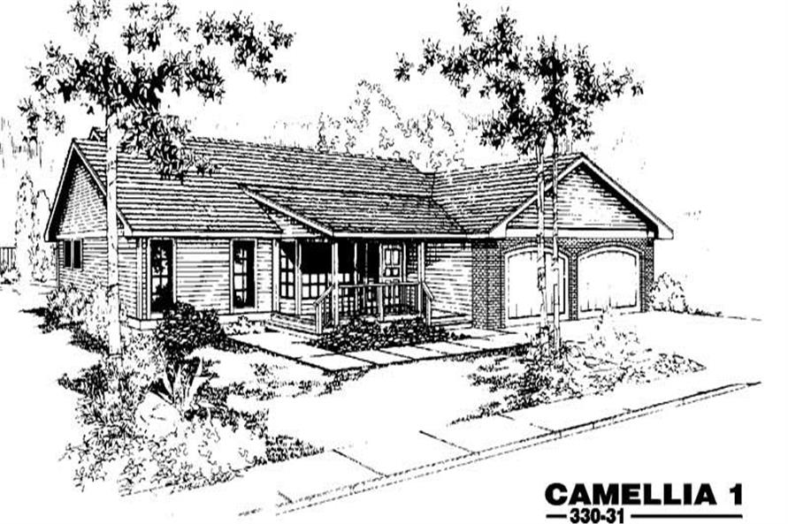 3-Bedroom, 1488 Sq Ft Country Home Plan - 145-1246 - Main Exterior
