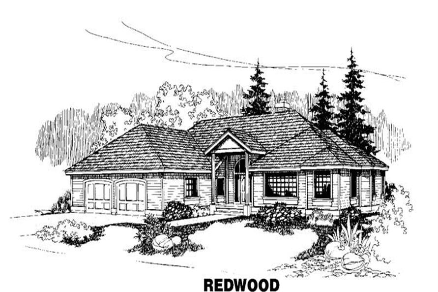 3-Bedroom, 2480 Sq Ft House Plan - 145-1247 - Front Exterior