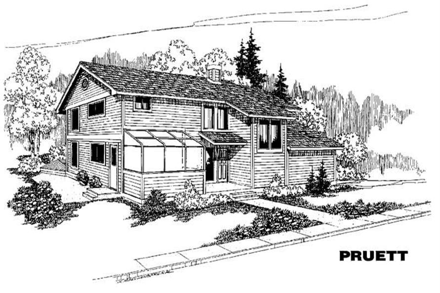 Main image for house plan # 3865