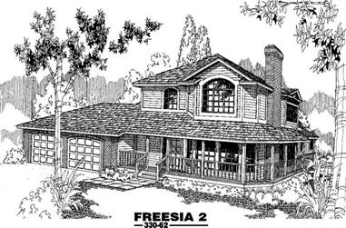 3-Bedroom, 2337 Sq Ft House Plan - 145-1250 - Front Exterior