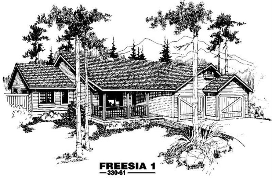 3-Bedroom, 1469 Sq Ft Small House Plans - 145-1251 - Front Exterior