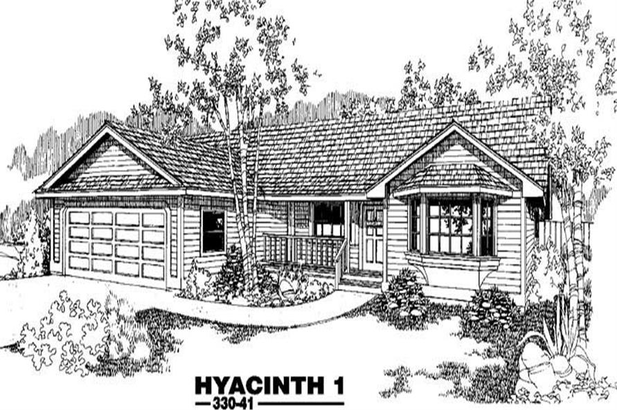 2-Bedroom, 1499 Sq Ft Country House Plan - 145-1253 - Front Exterior