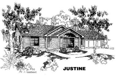 3-Bedroom, 1584 Sq Ft Ranch House Plan - 145-1254 - Front Exterior