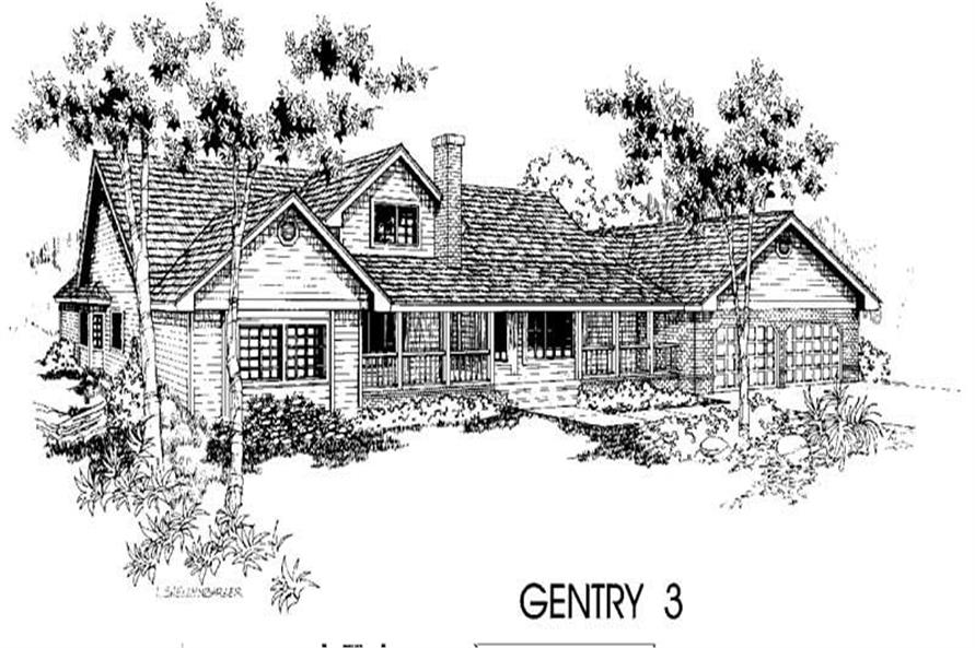 Luxury home (ThePlanCollection: Plan #145-1255)