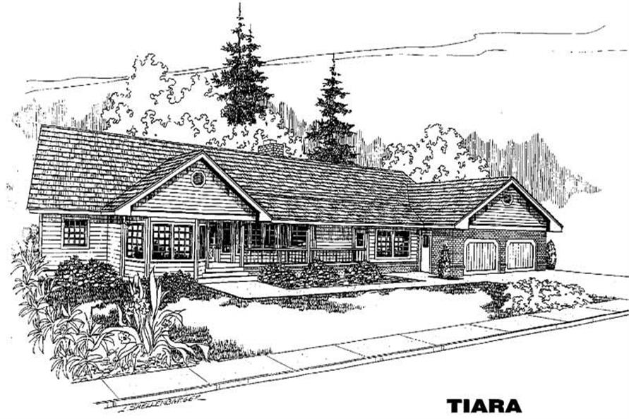 3-Bedroom, 2371 Sq Ft Country House Plan - 145-1256 - Front Exterior