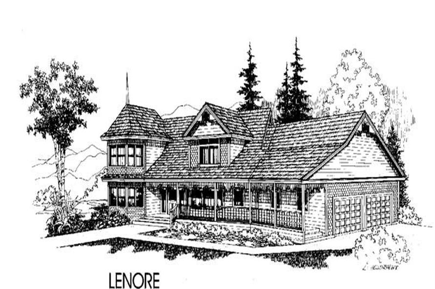 3-Bedroom, 2487 Sq Ft Country House Plan - 145-1257 - Front Exterior