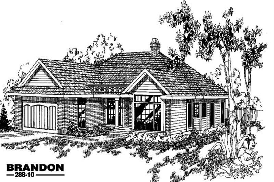 3-Bedroom, 1798 Sq Ft Contemporary Home Plan - 145-1264 - Main Exterior