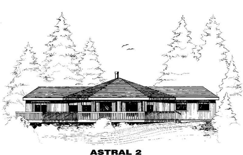Transitional home (ThePlanCollection: Plan #145-1265)