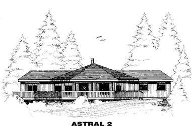 3-Bedroom, 1883 Sq Ft Transitional Home Plan - 145-1265 - Main Exterior