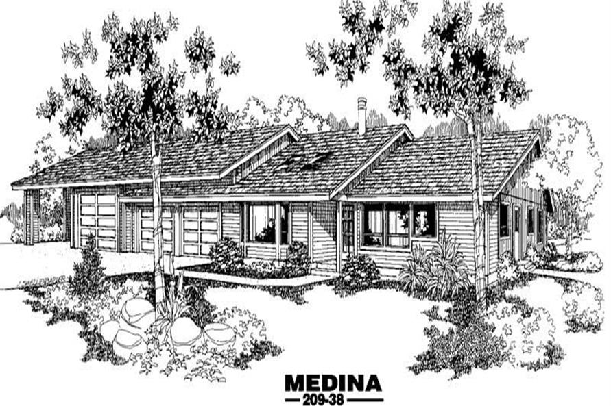 2-Bedroom, 1585 Sq Ft Contemporary Home Plan - 145-1271 - Main Exterior