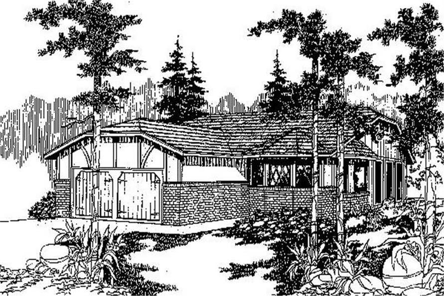 2-Bedroom, 1328 Sq Ft Georgian Home Plan - 145-1273 - Main Exterior