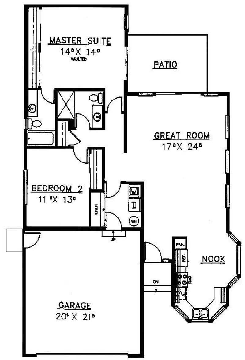 Small georgian ranch house plans home design barcus 6715 for Small georgian house plans