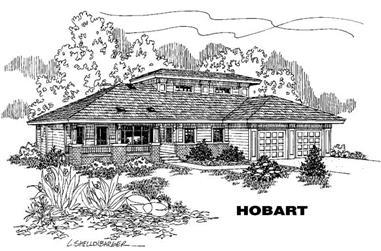 3-Bedroom, 2048 Sq Ft Ranch Home Plan - 145-1275 - Main Exterior