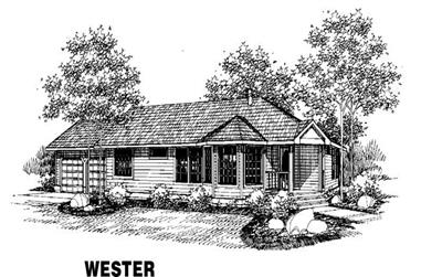 3-Bedroom, 1651 Sq Ft Ranch House Plan - 145-1282 - Front Exterior