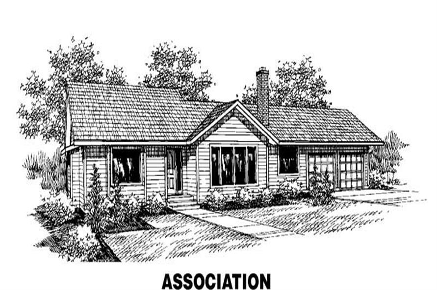 3-Bedroom, 1574 Sq Ft Ranch House Plan - 145-1283 - Front Exterior