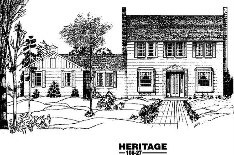 4-Bedroom, 2278 Sq Ft Colonial House Plan - 145-1287 - Front Exterior