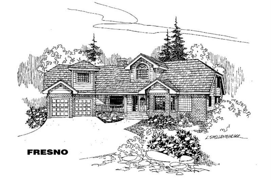 3-Bedroom, 2260 Sq Ft Ranch Home Plan - 145-1288 - Main Exterior