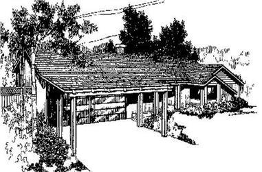 3-Bedroom, 1876 Sq Ft Ranch Home Plan - 145-1289 - Main Exterior