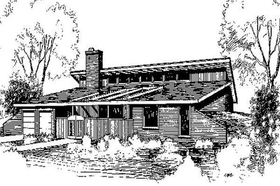 3-Bedroom, 2294 Sq Ft Ranch Home Plan - 145-1291 - Main Exterior