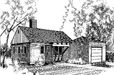 3-Bedroom, 1581 Sq Ft Ranch Home Plan - 145-1292 - Main Exterior