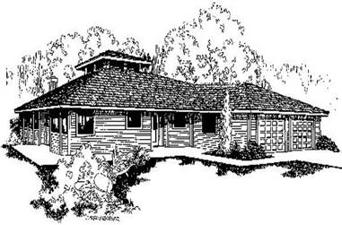 3-Bedroom, 2198 Sq Ft Ranch Home Plan - 145-1293 - Main Exterior