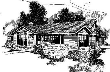 3-Bedroom, 1813 Sq Ft Ranch Home Plan - 145-1294 - Main Exterior