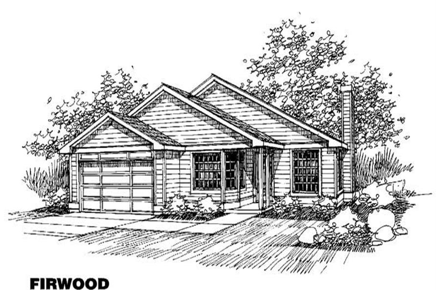3-Bedroom, 1438 Sq Ft Contemporary House Plan - 145-1300 - Front Exterior