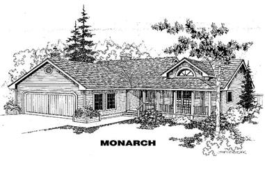 3-Bedroom, 1499 Sq Ft Country House Plan - 145-1301 - Front Exterior