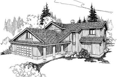 3-Bedroom, 2308 Sq Ft Contemporary Home Plan - 145-1303 - Main Exterior