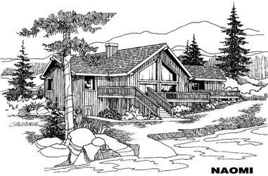 3-Bedroom, 1580 Sq Ft Home Plan - 145-1306 - Main Exterior