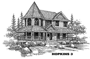 3-Bedroom, 3344 Sq Ft Victorian Home Plan - 145-1307 - Main Exterior