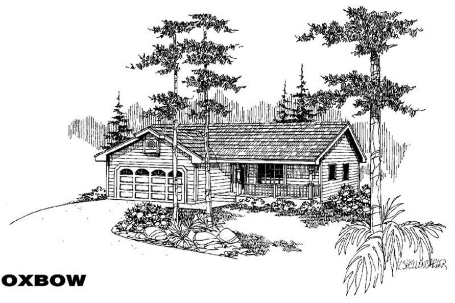 3-Bedroom, 1145 Sq Ft Small House Plans - 145-1309 - Main Exterior