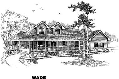3-Bedroom, 2228 Sq Ft Ranch House Plan - 145-1313 - Front Exterior