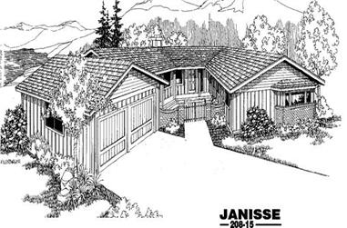2-Bedroom, 2150 Sq Ft Ranch House Plan - 145-1317 - Front Exterior