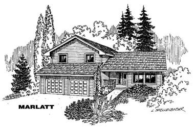 3-Bedroom, 1744 Sq Ft Small House Plans - 145-1319 - Front Exterior