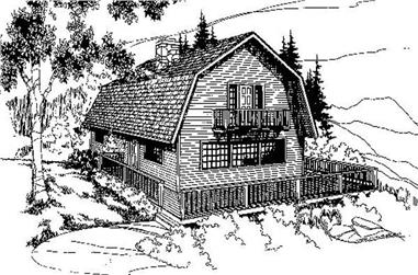 3-Bedroom, 1680 Sq Ft Farmhouse House Plan - 145-1321 - Front Exterior