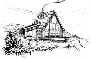 3-Bedroom, 1834 Sq Ft Log Cabin House Plan - 145-1325 - Front Exterior